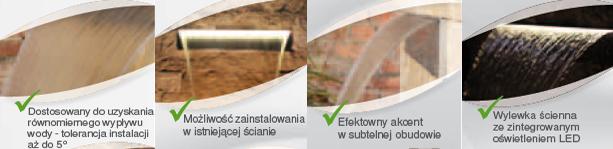 Wylewki ścienne ze stali